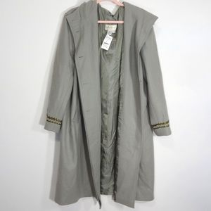 Paradox Green Long Coat Unique Sleeves Size 18W